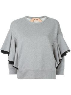 ruffle sleeve sweatshirt Nº21