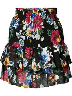 юбка с оборками и цветочным принтом Piamita