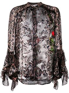 floral and snakeskin print blouse Preen By Thornton Bregazzi