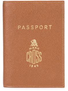 обложка для паспорта с тисненым логотипом Mark Cross