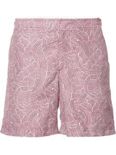 плавательные шорты с волнистым узором Orlebar Brown