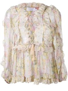 valour ruffle-trimmed floral blouse Zimmermann