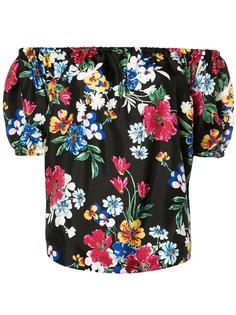 блузка с цветочным принтом и открытыми плечами Piamita