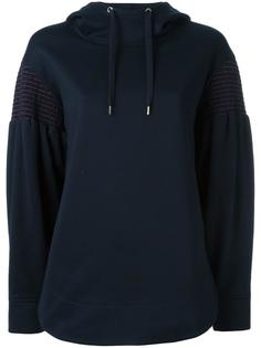 striped embroidery hoodie Cédric Charlier
