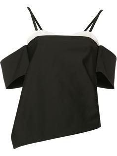 асимметричная блузка с вырезами на плечах Tibi