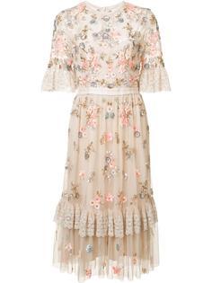 прозрачное платье с цветочным украшением Needle & Thread