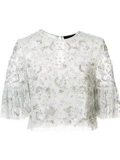 декорированная укороченная блузка Needle & Thread