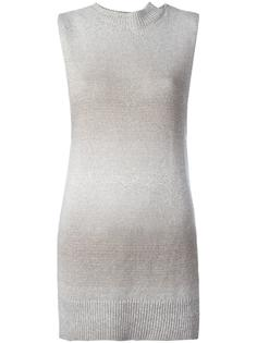 high neck knitted tank Lamberto Losani