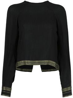 metallic detailing ribbed blouse Zeus+Dione