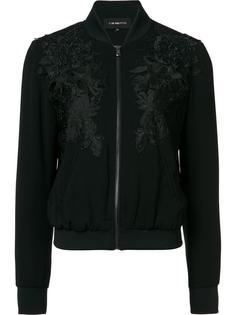куртка-бомбер с цветочной аппликацией  Kobi Halperin