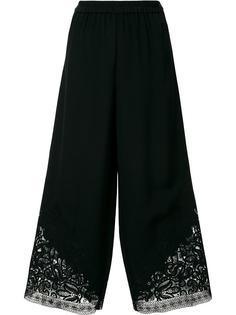 укороченные брюки с кружевным подолом Kobi Halperin