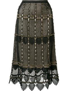 кружевная юбка с отделкой бусинами Kobi Halperin