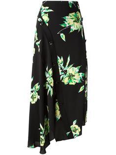 asymmetric floral skirt Proenza Schouler