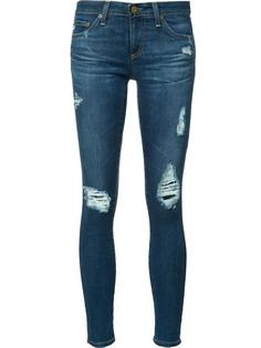 рваные джинсы кроя скинни Ag Jeans