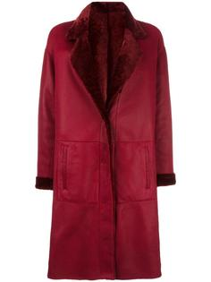 two side leather coat Drome
