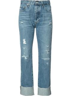 укороченные джинсы бойфренды Ag Jeans