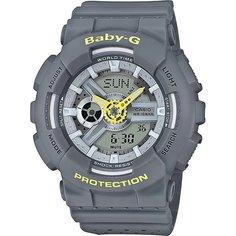 Кварцевые часы женские Casio G-Shock Baby-g 67595 Ba-110pp-8a Grey