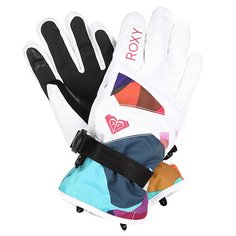 Перчатки сноубордические детские Roxy Rxjettygirlglov Typo Bright White