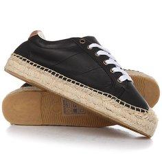 Кеды кроссовки низкие женские Soludos Platform Tennis Sneaker Black