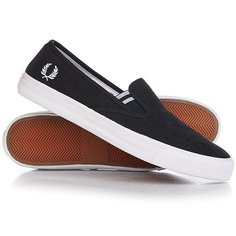 Слипоны Fred Perry Turner Slip On Brushed Cotton Navy
