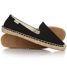 Эспадрильи женские Soludos Smoking Slipper Linen Black