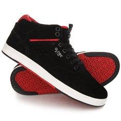 Кеды кроссовки высокие Globe Motley Solace Black/Red