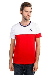 Футболка Le Coq Sportif Merrela Optical White/Pur Rouge