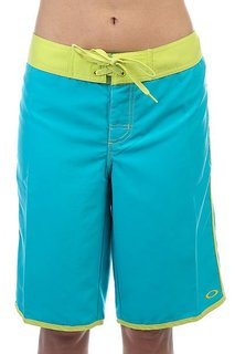 Шорты пляжные женские Oakley Spinning Boardie Bright Blue Aqua
