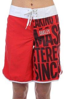 Шорты пляжные женские Oakley Flip Top Boardie Cherry Red