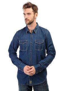 Рубашка Dickies Blue Collar Shirt Indigo Blue