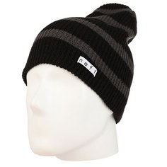 Шапка носок Neff Daily Stripe Beanie Black/Charcoal