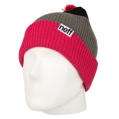 Шапка Neff Snappy Beanie Magenta/Grey/Black