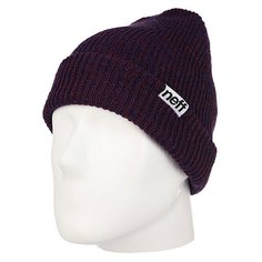 Шапка Neff Fold Heather Beanie Navy/Maroon