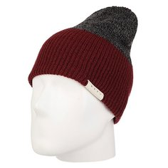 Шапка носок Neff Duo Beanie Maroon Heather/Charcoal Htr