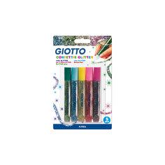Глиттер для декорирования, цветные конфетти, 5 цветов по 5,5 мл Giotto