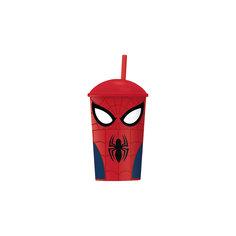 """Стакан """"Великий Человек-паук"""" с соломинкой и крышкой (400 мл) Новый Диск"""