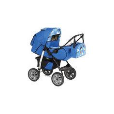 Коляска-трансформер Sport, Marimex, синий/голубой с принтом