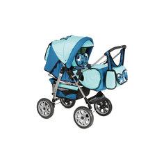 Коляска-трансформер Jas, Marimex, синий/голубой с принтом