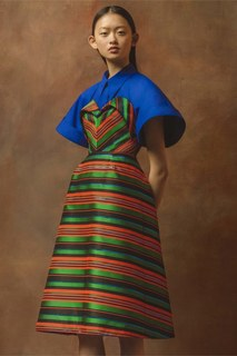 Платье в полоску Delpozo