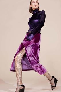 Бархатная юбка Nina Ricci