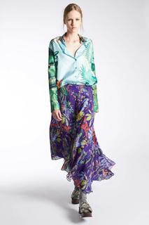Блузка с принтом Rochas