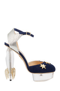 Бархатные туфли Fly Me To The Moon Charlotte Olympia