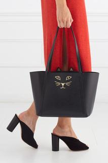 Кожаная сумка Mini Feline Charlotte Olympia