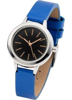 Наручные часы контрастной расцветки (черный/красный) Bonprix