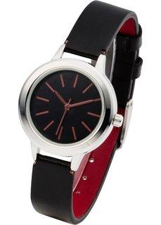 Наручные часы контрастной расцветки (синий/кремовый) Bonprix