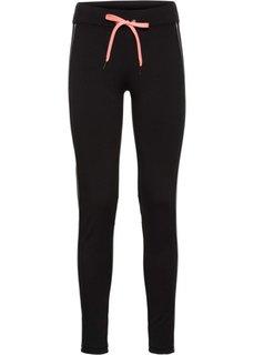 Утепленные длинные брюки для бега (черный) Bonprix