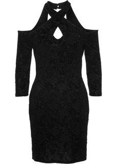 Вечернее платье (темно-лиловый с узором) Bonprix