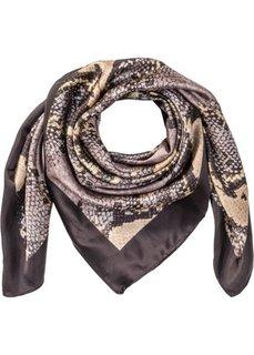 Маленький платок в шелковом дизайне (черный/коричневый/серый) Bonprix