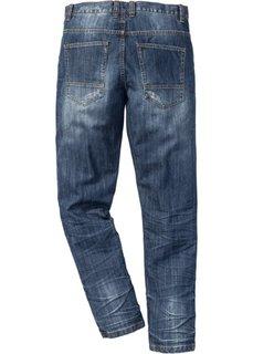 Джинсы Regular Fit Tapered, длина в дюймах 34 (синий «потертый») Bonprix