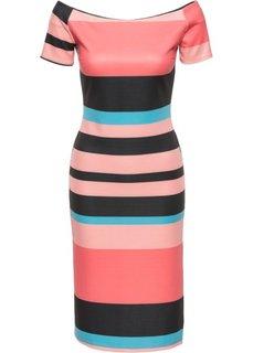 Платье в полоску (черный/белый в полоску) Bonprix